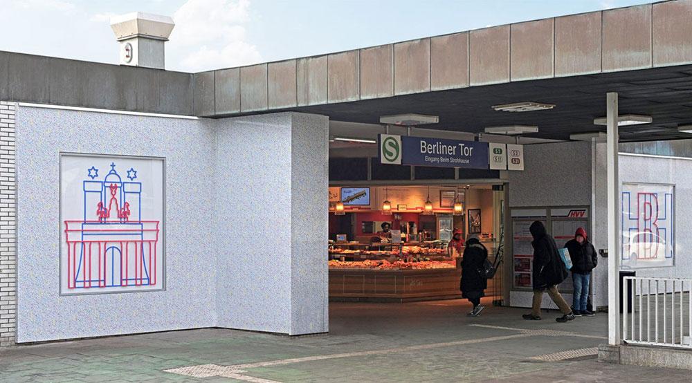 S-Bahn-Station — Hamburg Berliner Tor, DE