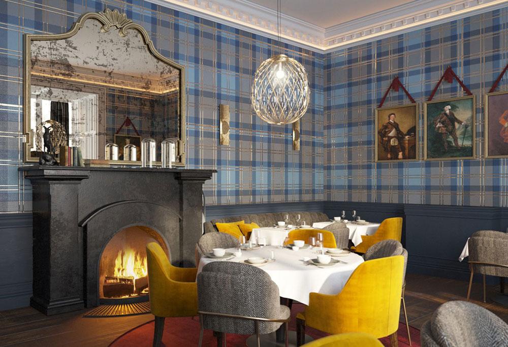 Restaurant Interior Design   Restaurant Bar Schloss Roxburghe Gb