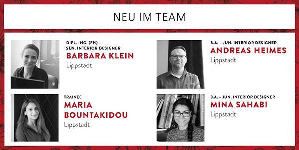Vier neue Kollegen!